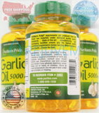 3PK Puritans Pride Garlic Oil 5000 mg-250 Rapid Release Softgels Immune Support