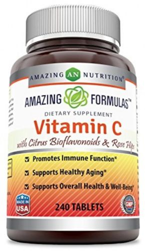 Amazing Formulas Vitamin C with rose hips and citrus Vegan - Promotes Immune
