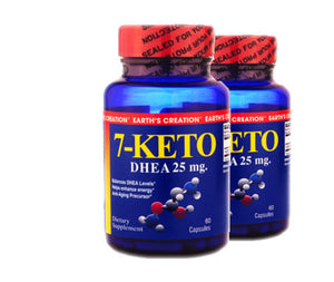 7-KETO DHEA (25mg -- 2 pack) by Earth's Creation USA