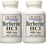 Berberine HCI 900mg 180 -Glucose Support -Supports Mental -Natural Antimicrobial