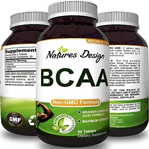 BCAA Pills-Pure Concentrated Essential Amino Acids-Muscle Recovery + Lean Gains
