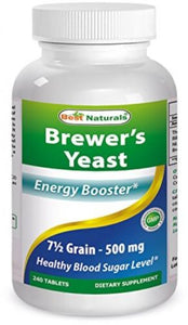 Best Naturals, Brewers Yeast 7-1/2 Grains with vitamin B1, Vitamin B2 and