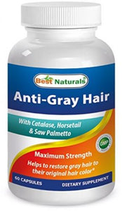 Best Naturals Anti Gray Hair Formula, 60 Count