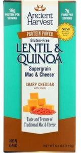 ANCIENT HARVEST Mac and Cheese Lentil sharp cheddar, 6.5 oz