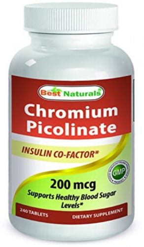 Best Naturals Chromium Picolinate Tablet, 200 mcg, 240 Count