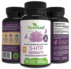 100mg 5-HTP Serenity Daily Serotonin Supplement - Helps Boost and Improve Mood,
