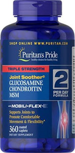 360 Cap Puritans Pride Triple Strength Glucosamine, Chondroitin and MSM Joint
