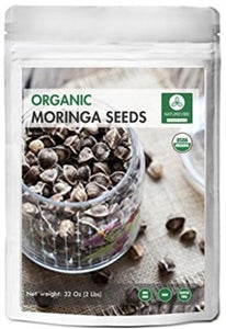 Approx 3000 Premium Quality Moringa Seeds - Organic and PKM1 without Wings - -