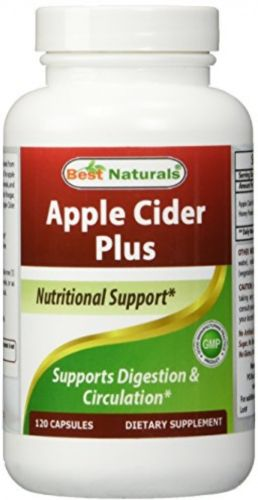 Best Naturals Apple Cider Vinegar Plus 500 Mg 120 Capsules - Vinegar Capsules