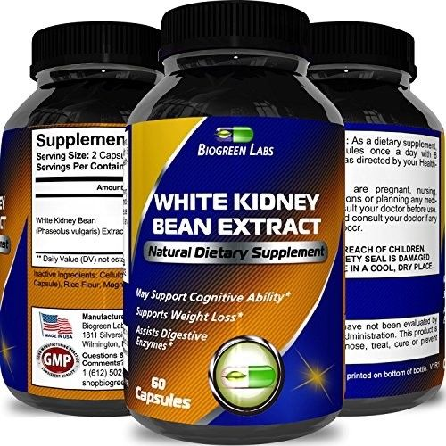 100% Pure White Kidney Bean Extract ? Phase 2 Starch Neutralizer ? Natural