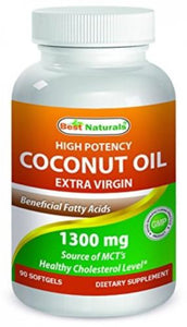 Best Naturals Extra Virgin Coconut Oil 1300 mg 90 Softgels