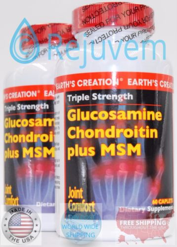 2PK Triple Stregth Glucosamine, Chondroitin plus MSM, 60 Tabs by Earths Creation