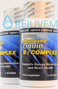 2PK Liquid B Complex with Folic Acid and B-12 | 60 Softgels by Earths Creation
