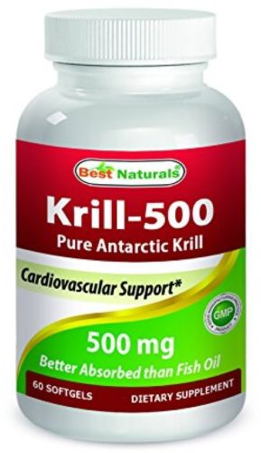 #1 Krill Oil 500mg Softgels - 100% Pure Cold Pressed Antarctic Krill Oil - of -