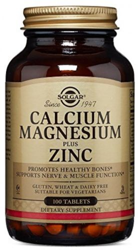 1000mg Calcium | 400mg Magnesium | 15mg Zinc |Synergistic |100 Tablets by Solgar