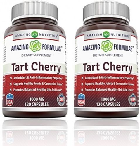 Amazing Formulas Tart Cherry Extract - 1000 Mg, 120 Capsules - Pack of 2