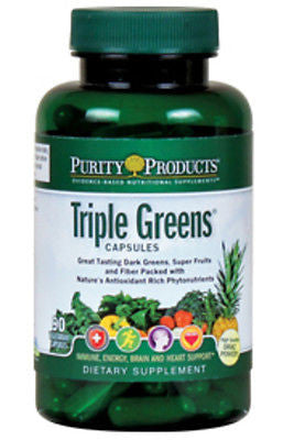 Triple Greens Capsules by Purity Products - 90 Vegetable Capsules - rejuvem  - 1