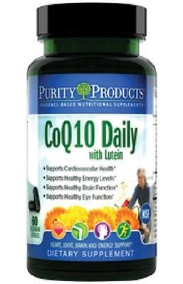 CoQ10 Daily with Lutein by Purity Products - 60 Vegetarian Capsules - rejuvem  - 1