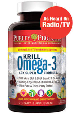 Krill Omega-3 Super Formula by Purity Products - 60 Soft Gels - rejuvem  - 1