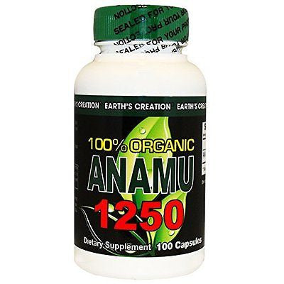 Anamu 1250mg 100% Organically Grown - 100 Capsules by Earth's Creation USA - rejuvem