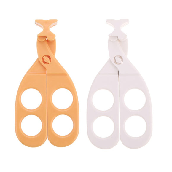 1 Pc Professional Plastic Baby Food Supplement Scissors To Crush Baby Food Fruits Feeding Processor 2 Colors Children Tableware