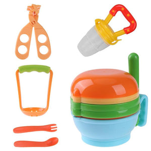 12pcs/Set Baby Food Storage Grinding Bowl Supplement Scissors Spoon Fruit Processor Juice Press Machine Suit Baby Feeding Tools