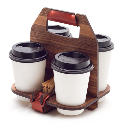 Sixfold Cafe: 4-cup Carrier (HOLIDAY SALE!)