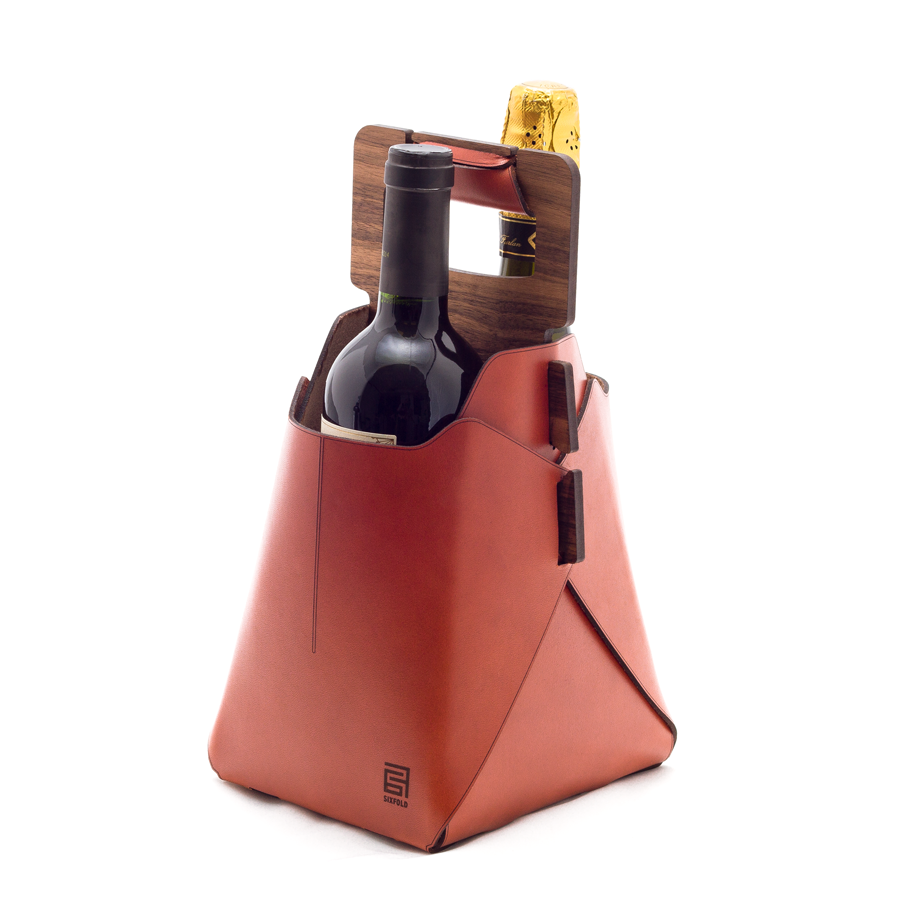Sixfold Twin: 2-bottle Wine Tote