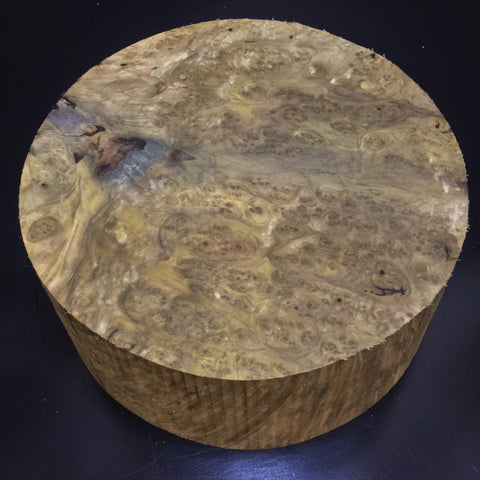 "9""x4"" Poplar Burl Wood Bowl Turning Blank #0065"