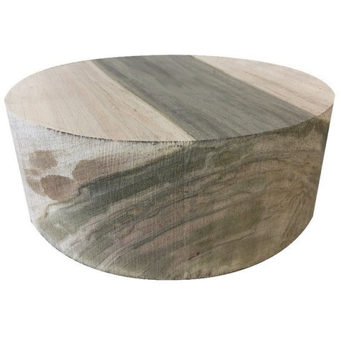 "12""x3"" KD Spalted Maple Wood Bowl Turning Blank"