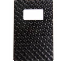 Included carbon fiber bottle opener