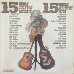 15 Great Country Artists 15 Great Country Hits, Various (Vinyl)