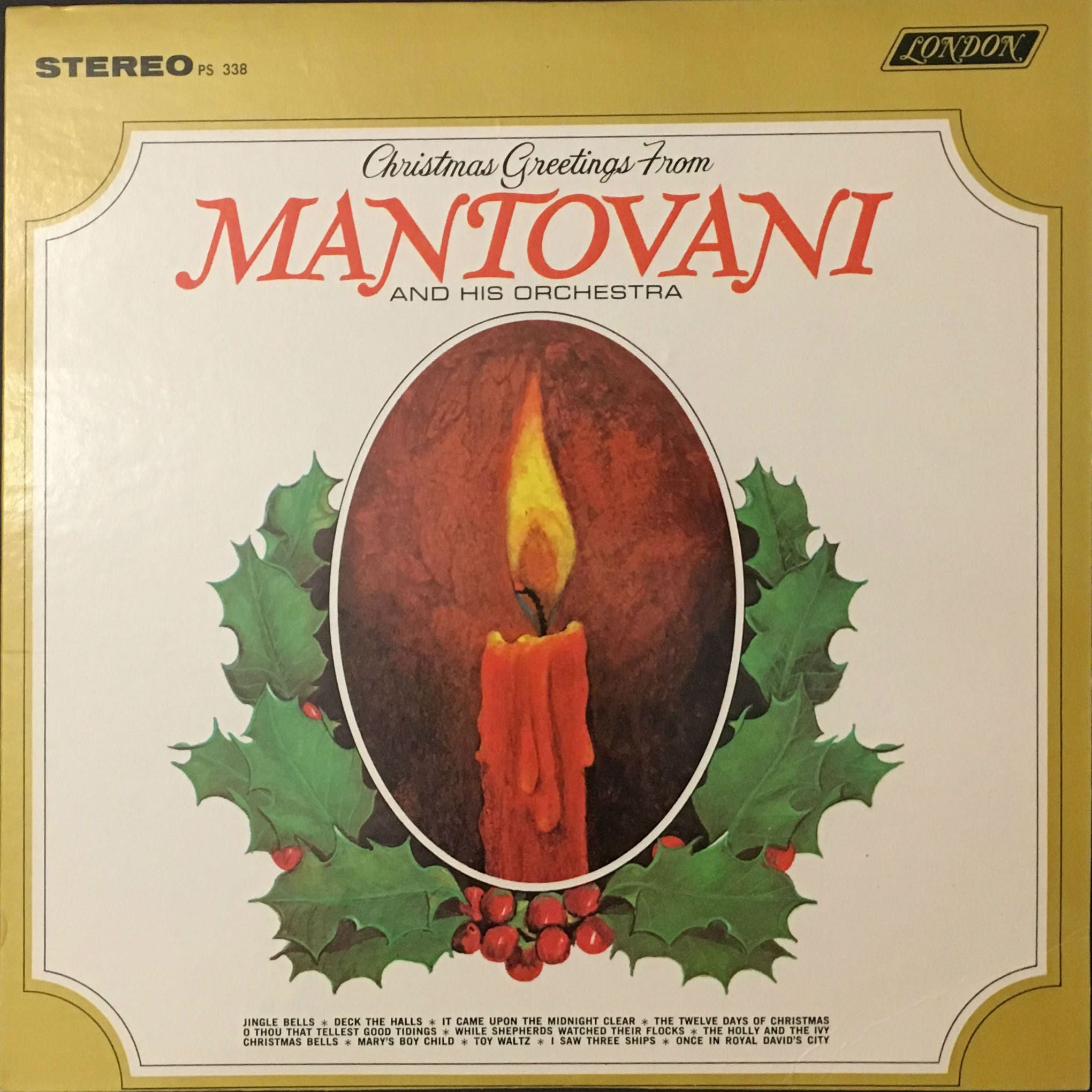 Christmas Greetings From Mantovani And His Orchestra, Mantovani And ...