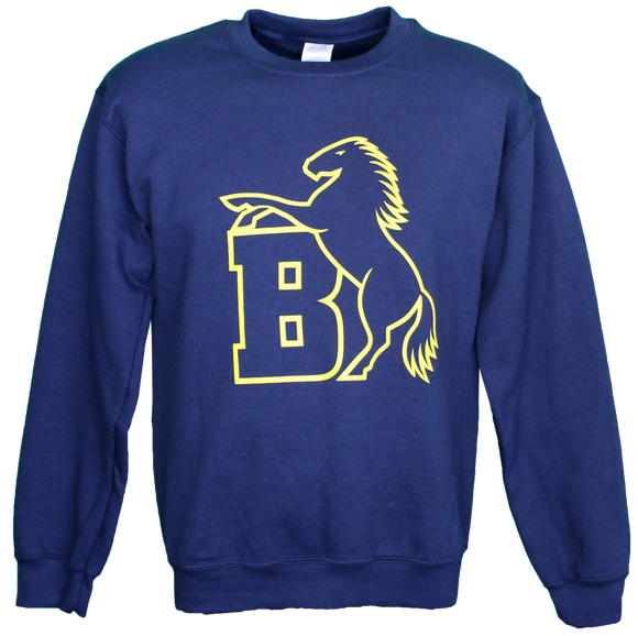 Mens Navy Crew Sweater