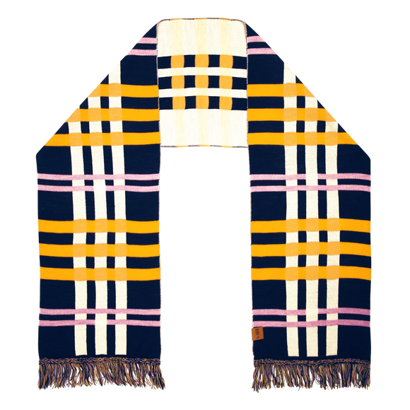 Wool Checked Scarf