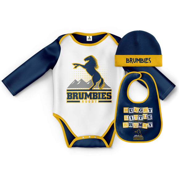 Bodysuit 3 pcs gift set (with beanie and bib)