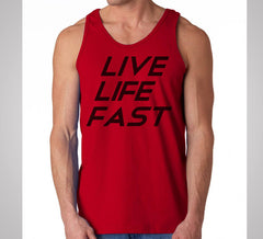 Live Life Fast Tank Red