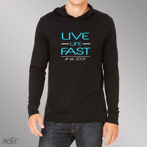 Live Life Fast Light Weight Hoodie Turquoise
