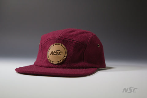 Wool 5 Panel - Maroon