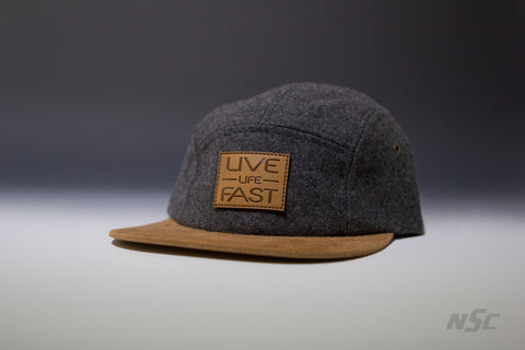 Wool 5 Panel - Heather Grey