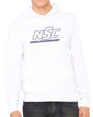 NSC Logo Outline Hoodie White
