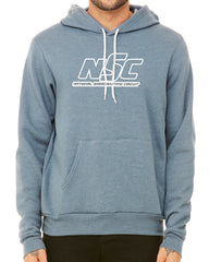 NSC Logo Outline Hoodie Heather Slate