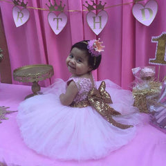 Pink and Gold First Birthday Party Dress