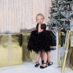 Black Party Dress for Girls - Itty Bitty Toes