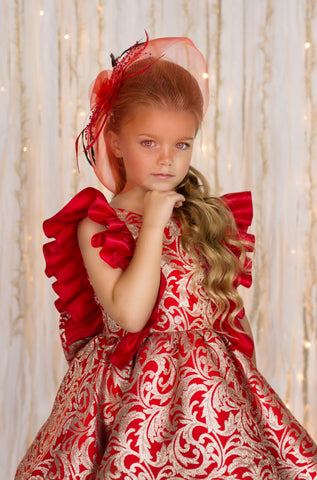 Couture Girls Holiday Dress from Itty Bitty Toes / ittybittytoes.com