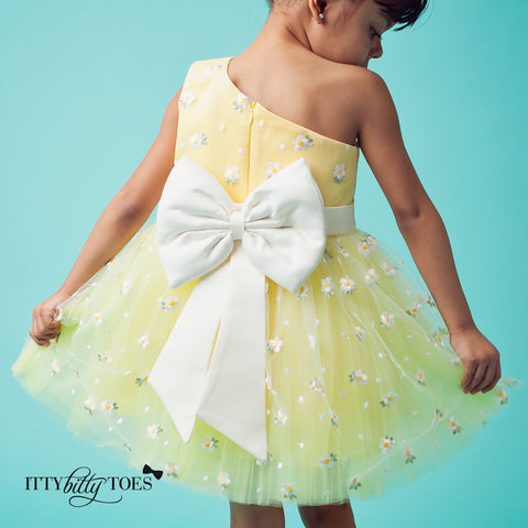 yellow couture dress for girls