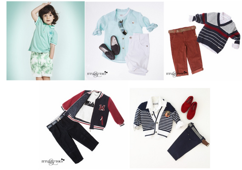 clothing for boys of ages 0-7 years