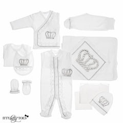 Prince Luxury Layette Set - Itty Bitty Toes www.ittybittytoes.com