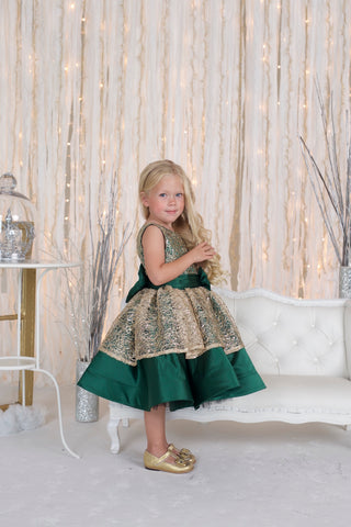 Charlotte Green Couture Dress - Itty Bitty Toes