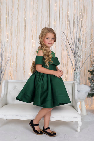 Clarissa Green Holiday Dress - Itty Bitty toes